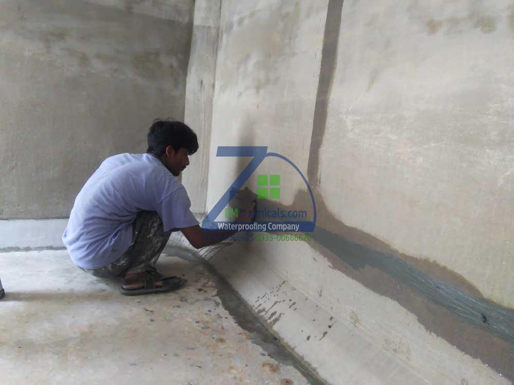 Over Head Water Tank Leakage Treatment in Korangi Industrial Area