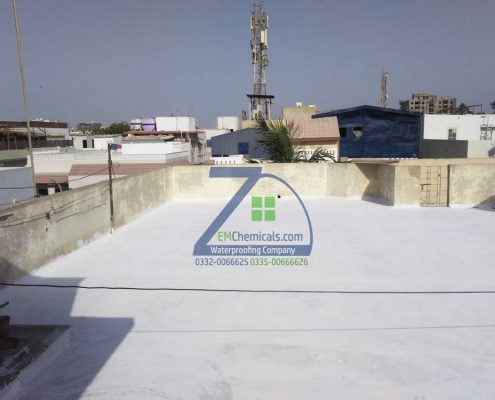 Roof Heat and Waterproofing at PECHS Karachi