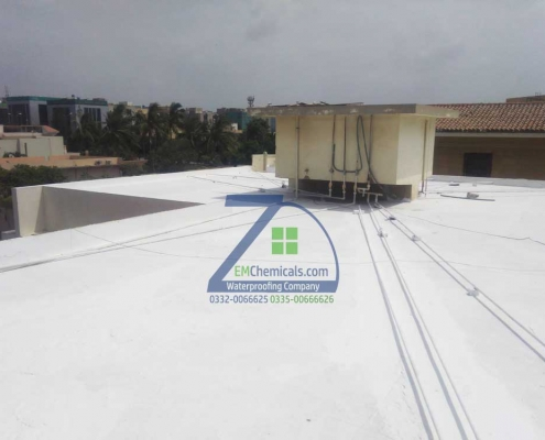 Roof Waterproofing and Heat Proofing done at DHA Phase 5