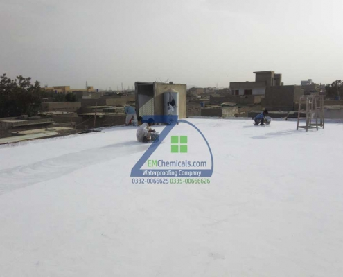 Roof Heat Proofing Treatment done in Surjani Town