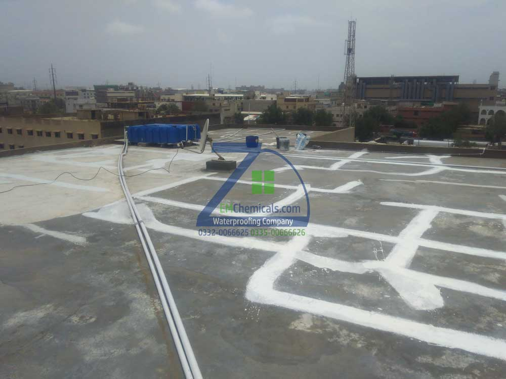 Roof Heat and Waterproofing Treatment at Korangi Industrial area
