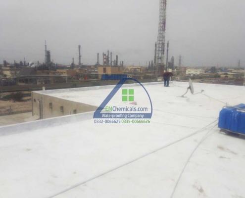 Roof Heat and Waterproofing Treatment at Korangi Industrial area