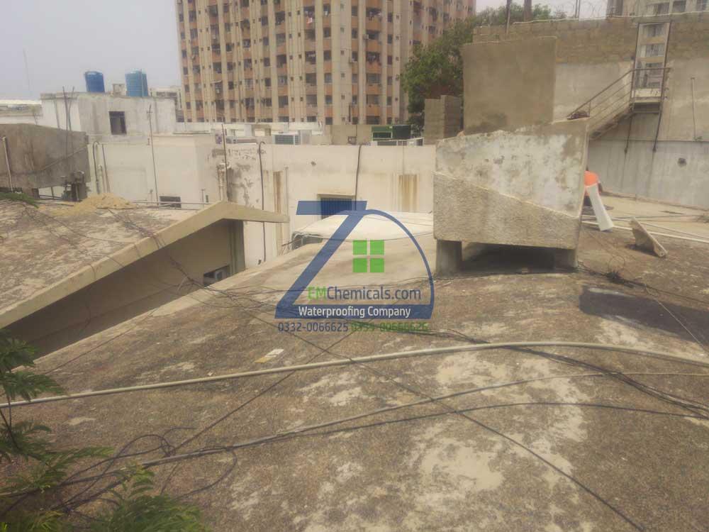 Roof Heat and Waterproofing at Nomi Ansari Studio Clifton
