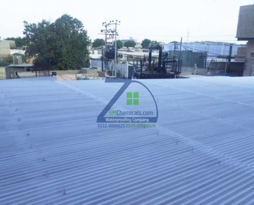Galvanized Iron (G.I) Sheets Roof Heat and Waterproofing at New Karachi Industrial Area