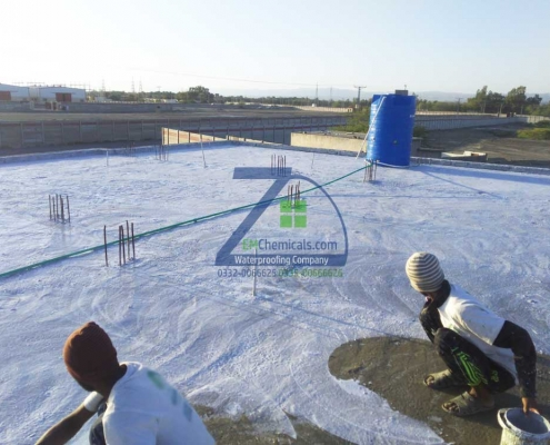 Roof Heat and Waterproofing Done at Turbat Balochistan