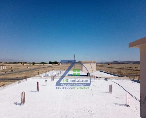 Roof Heat and Waterproofing Done at Frontier Corps in Turbat Balochistan