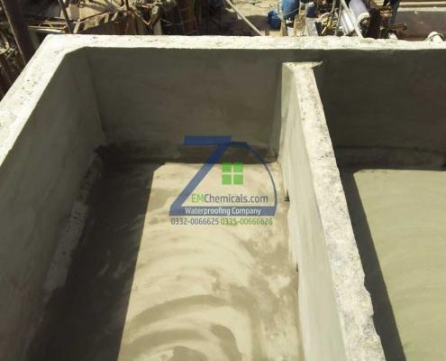 Water Tank Leakage Repair Treatment at Iqbal Dyeing Korangi Industrial area