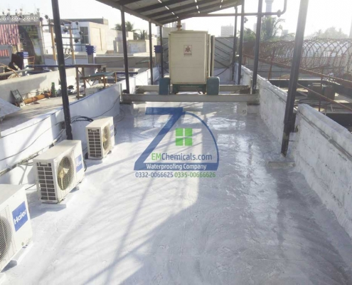 Roof Heat and Waterproofing Repair Treatment at Gulshan-e-Iqbal in Orient Outlet