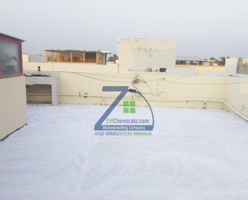 Roof Heat and Leakage Waterproofing Treatment Done near Sea View Clifton, Karachi