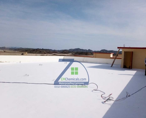 roof leakage and roof heat proofing treatment at turbat city baluchistan