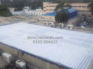 asbestos ac sheets roof leakage waterproofing treatment in karachi pakistan by zem chemicals