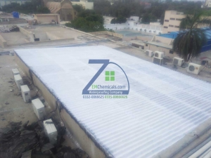 asbestos ac sheets roof heat and waterproofing treatment