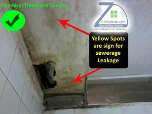 bathroom sewerage leakage treatment