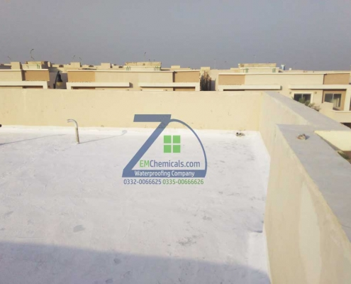 Roof Heat and Waterproofing including C.C. Flooring at Bahria Town