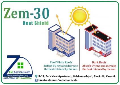 zem 30 heat shield roof cooling paint chemical