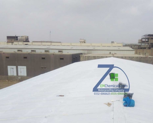 Galvanized Iron G.I. Sheets Heat and Waterproofing done at Pakistan Rice Complex