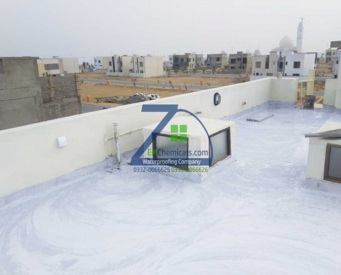 Roof Heat and Waterproofing done at Ali Block, Bahria Town